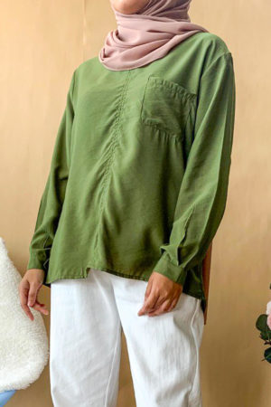 POCKET BLOUSE IN GREEN