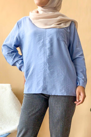 POCKET BLOUSE IN BLUE