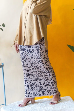 ALPHABET SKIRT IN KHAKIS