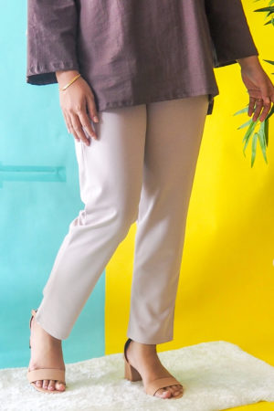 TAPPERED PANT IN NUDE