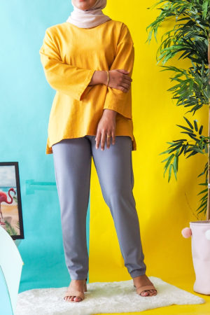 TAPPERED PANT IN LIGHT GREY