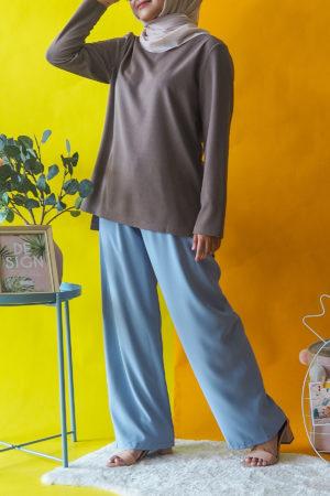 CHIFFON PALLAZO PANT IN BLUE