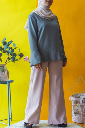 BOOTCUT PANT IN DUSTY PINK