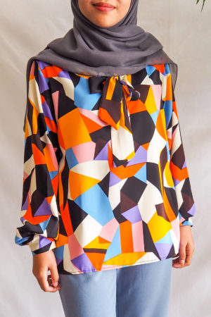 ABSTRACT TOP IN MIX ORANGE