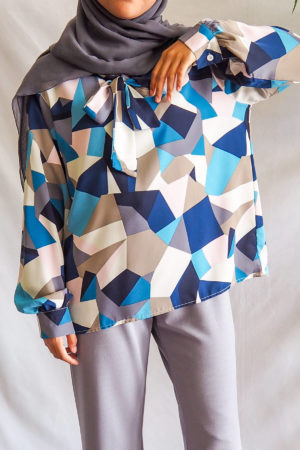 ABSTRACT TOP IN BLUE