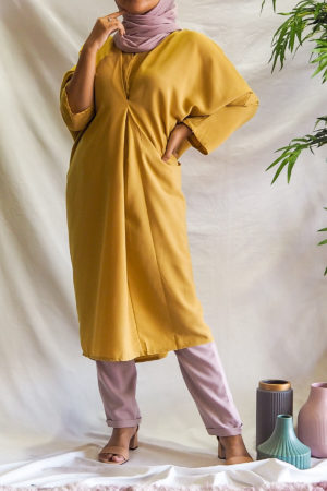 BAGGY LOOSE BLOUSE IN YELLOW