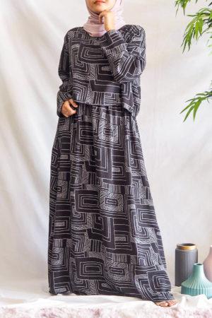 CROPTOP DRESS IN BLACK