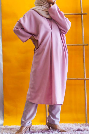 BAGGY LOOSE BLOUSE IN PINK